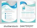 vector brochure flyer design... | Shutterstock .eps vector #344759297