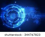 vector digital global... | Shutterstock .eps vector #344767823