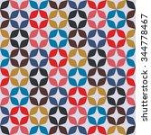 sixties pattern retro vintage... | Shutterstock .eps vector #344778467