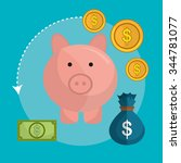 money online payment graphic...   Shutterstock .eps vector #344781077