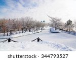 the embankment of amur river in ... | Shutterstock . vector #344793527
