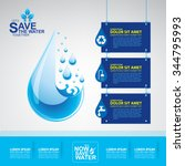 save water vector concept...