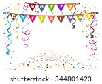 merry christmas. flags garland... | Shutterstock .eps vector #344801423