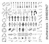 vector hand drawn arrows set... | Shutterstock .eps vector #344803967