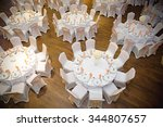 banqueting tables at wedding | Shutterstock . vector #344807657