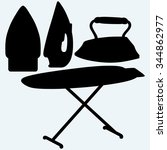 set iron and ironing board....   Shutterstock . vector #344862977