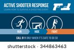 active shooter response safety... | Shutterstock .eps vector #344863463