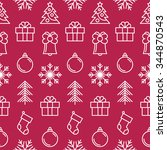 christmas background with... | Shutterstock .eps vector #344870543