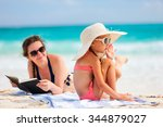mother and daughter enjoying... | Shutterstock . vector #344879027