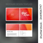 vector abstract brochure design ... | Shutterstock .eps vector #344904797
