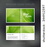 vector abstract brochure design ... | Shutterstock .eps vector #344912597