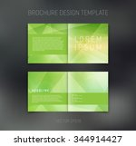 vector abstract brochure design ... | Shutterstock .eps vector #344914427