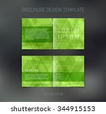 vector abstract brochure design ... | Shutterstock .eps vector #344915153