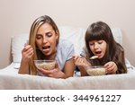 mother and daughter are having... | Shutterstock . vector #344961227
