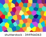 colorful abstract mosaic... | Shutterstock .eps vector #344966063