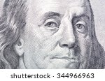 Small photo of Macro close up of Ben Franklin's face on the US $100 dollar bill