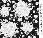 elegant seamless pattern with... | Shutterstock . vector #344967827