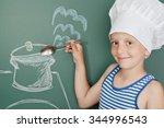 happy boy who likes to joke at... | Shutterstock . vector #344996543