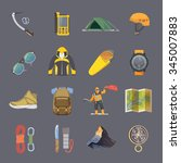 Set Of Flat Vector Icons On Th...