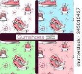 nice shoes background. gumshoes ... | Shutterstock .eps vector #345010427