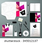 stationery set design modern... | Shutterstock .eps vector #345012137