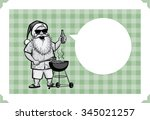 merry christmas greeting card... | Shutterstock .eps vector #345021257