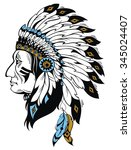 apaches mascot  | Shutterstock .eps vector #345024407