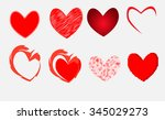 various types of heart vector | Shutterstock .eps vector #345029273