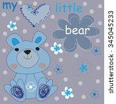 charming little bear with...   Shutterstock .eps vector #345045233