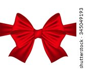 red bow on a white background  | Shutterstock .eps vector #345049193
