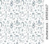 cosmetics. perfume bottles  ... | Shutterstock .eps vector #345051617