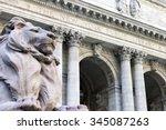 new york city public library... | Shutterstock . vector #345087263