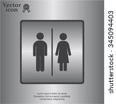 man and lady toilet sign | Shutterstock .eps vector #345094403