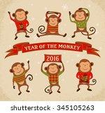 Set Of 6 Cartoon Chinese Zodia...