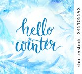 hello winter banner with... | Shutterstock . vector #345105593