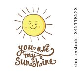 sun with hand drawn typography... | Shutterstock .eps vector #345118523