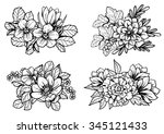 flower set | Shutterstock . vector #345121433