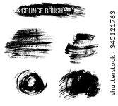 vector set of grunge brush... | Shutterstock .eps vector #345121763