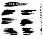 vector set of grunge brush...   Shutterstock .eps vector #345121787