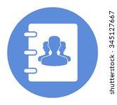 notebook  address  phone book... | Shutterstock .eps vector #345127667