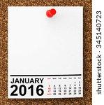 calendar january 2016 on blank