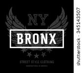 "lettering ""bronx ny"" and... 