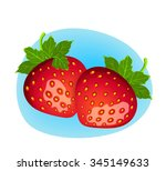 vector berry illustration.... | Shutterstock .eps vector #345149633