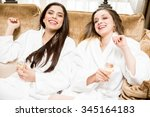 female friends enjoying each... | Shutterstock . vector #345164183