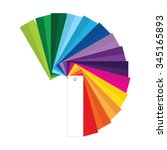 vector illustration of colour... | Shutterstock .eps vector #345165893