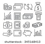money line icons | Shutterstock . vector #345168413