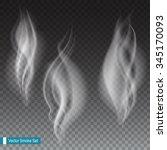 white smoke waves on... | Shutterstock .eps vector #345170093