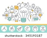 innovation concept and human... | Shutterstock .eps vector #345193187
