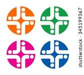 cross medical logo vector. | Shutterstock .eps vector #345199367