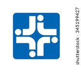 cross medical logo vector. | Shutterstock .eps vector #345199427